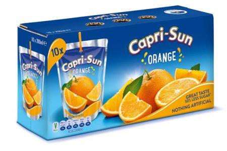 Capri-Sun cuts sugar content in half with stevia inclusion