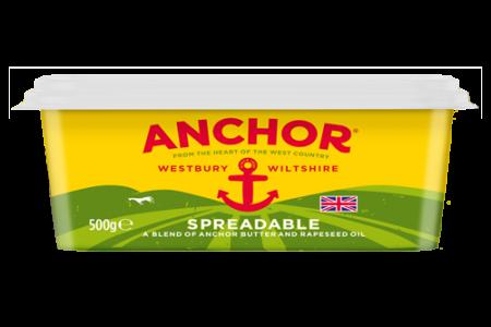 Anchor flies the British flag