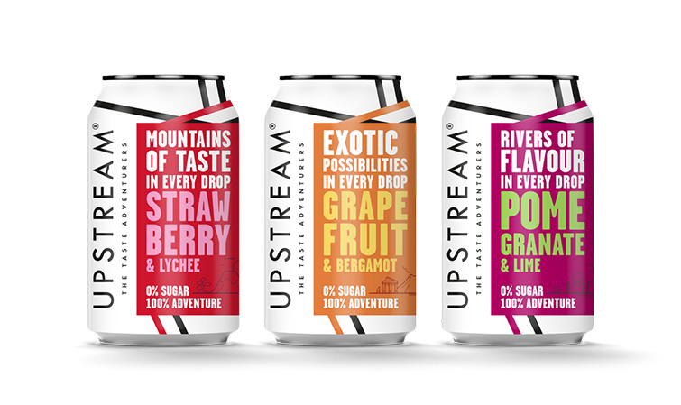 Clearly Drinks relaunches Upstream brand with new packaging design