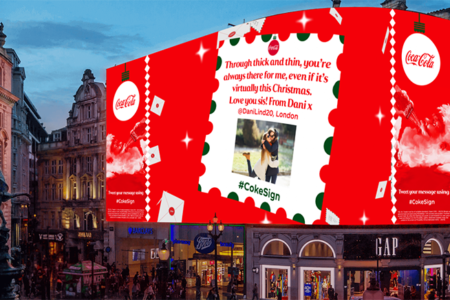 Coca-Cola shares uplifting messages from across the UK on Piccadilly Lights