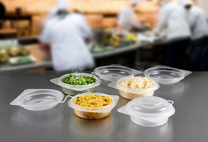 Celebration Packaging introduces range of reusable, microwavable hinged-lid food containers