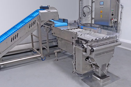 Frozen food manufacturer increases production capacity with Cremer washdown counting machine