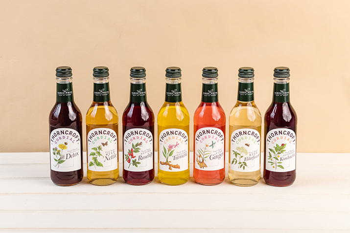 James White Drinks relaunches reduced sugar Thorncroft cordial range