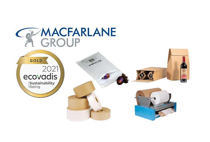 Macfarlane Group UK awarded Gold rating from EcoVadis for sustainability