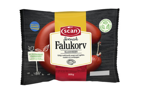 Sweden's best-selling sausages wrapped in Mondi's renewable paper-based packaging
