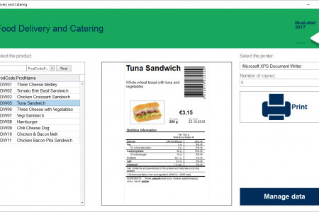 NiceLabel develops solution to include mandatory nutrition facts table in food labels