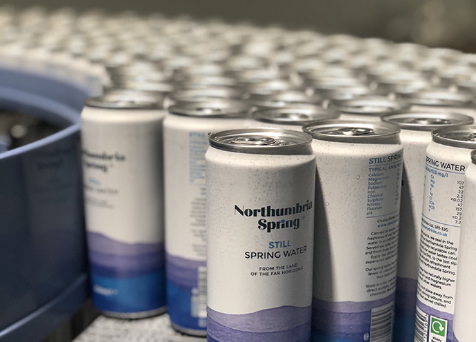 Northumbria Spring marks first product off Clearly Drinks' new UK canning line