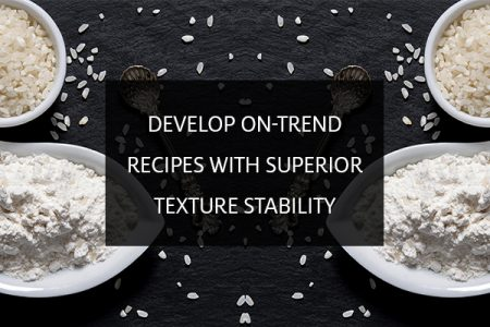 Rice-based starches for superior texture stability