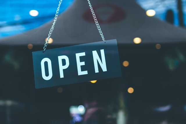 Open for business...