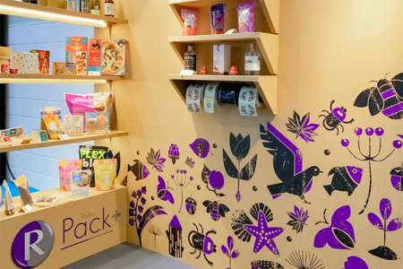 Reflex reveals fully recyclable cardboard exhibition stand at lunch!