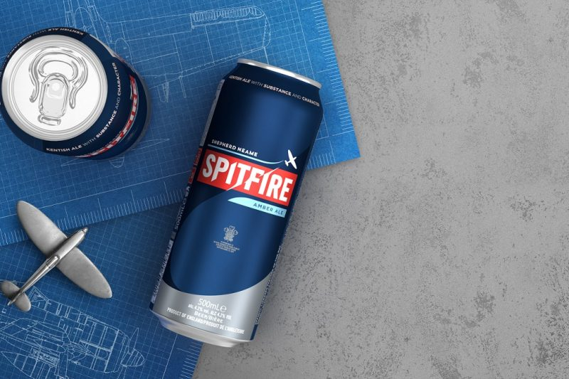 Shepherd Neame unveils new Spitfire branding with Canpack