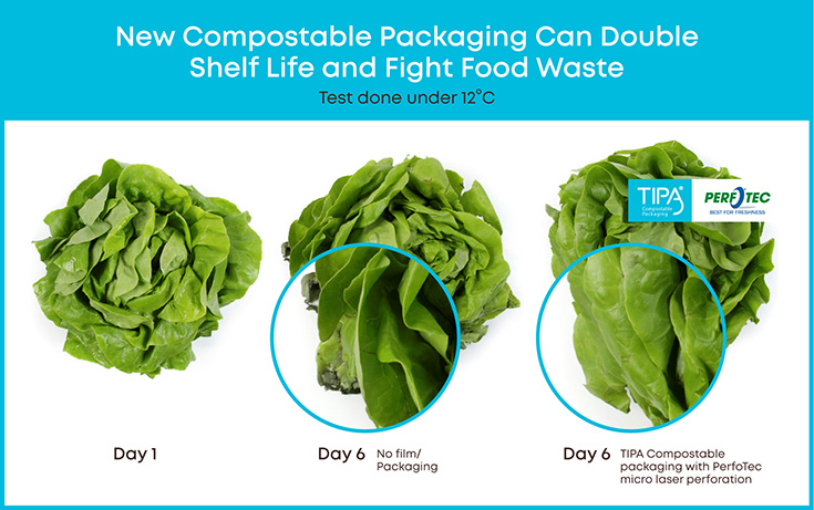 New compostable packaging to double shelf life of fresh produce