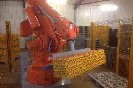 It's the gentle touch at Sunrise Eggs...from robots