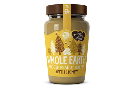 Whole Earth launches honey peanut butter