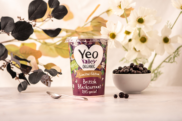 Yeo Valley Organic launches limited edition RHS British Blackcurrant Yogurt