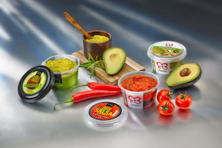 Guacamole pot provides protection and presentation