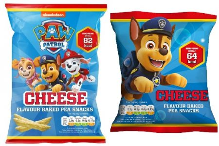 Calbee UK launches 'Paw Patrol'-branded line of oven-baked pea snacks