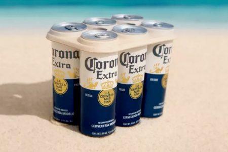 Corona trials plastic-free six pack rings