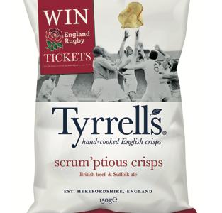 Tyrrells reveals new crisp flavour for NatWest 6 Nations