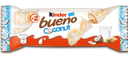 Fererro launches Kinder Bueno Coconut