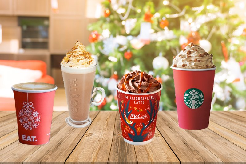 Festive hot drinks loaded with sugar and calories