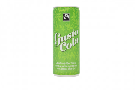 Natural cola in a can