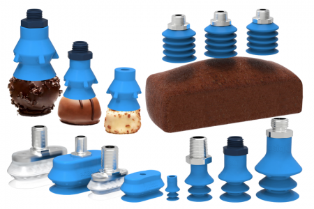 Piab's new metal detectable food suction cups
