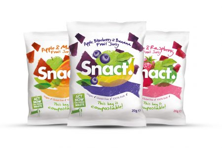 Snact chooses Tipa's compostable, flexible packaging