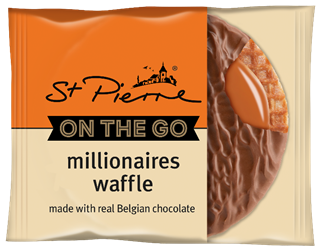 St Pierre Taps adds Millionaires Waffle tp 'On-the-Go' range