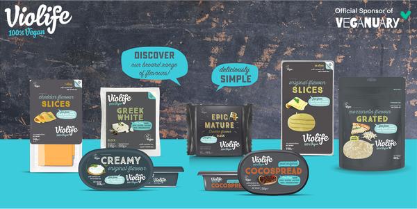 Violife announced as official sponsor of Veganuary 2021